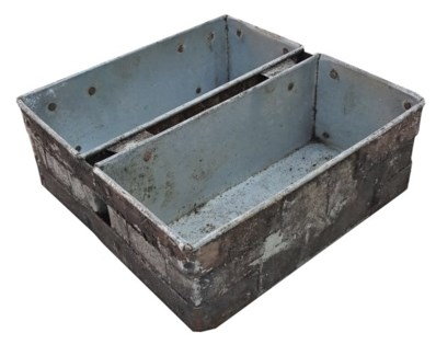 Vintage Iron Double Tray - 10.63x10.63x3.94 inches