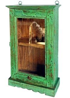 Vintage Showcase, Green, 17x6x30 inches