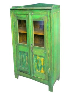 TC-NB-1226 Vintage 2 Dr Cabinet, Green, 27.6x14.2x49.2 Inches