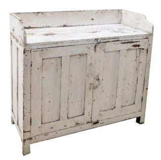 Vintage Cabinet, White, 39x16x35 Inches
