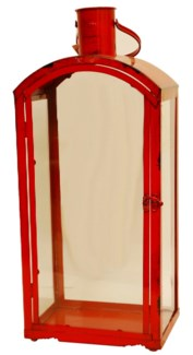 Targo Red Lantern Large 9x6.3x24inch