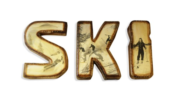 SKI Letters Decor Set 11.8x3.9x15.4inch letters.  Will be available September 2018