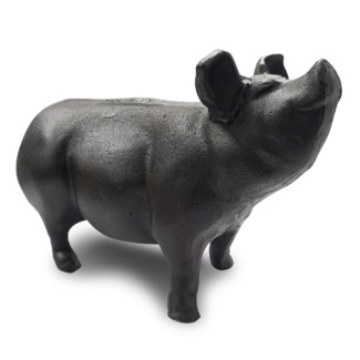 Cast iron pig, large, dims 13 x 6 x 8 Inches