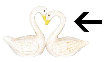 Swan B, Cast Iron, Wht, 2x1x2 inches