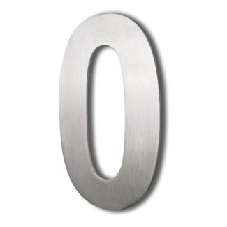 Stainless Steel 6 Arial Number-0 Satin Finish, 2.0 mm thick, anchor mounted