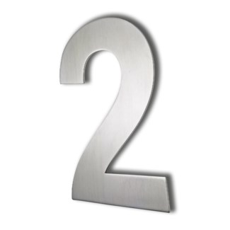 Stainless Steel 6 Arial Number-2 Satin Finish, 2.0 mm thick, anchor mounted