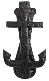 Anchor Door Knocker, 7.5 Antique Silver