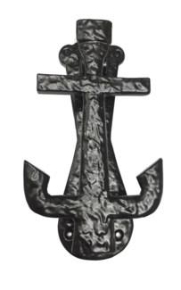 Anchor Door Knocker, 7.5, Black