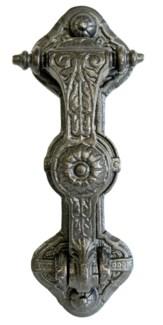 Rose Door Knocker, Antique Metal, 9 x 3x 1.5 inches