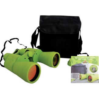 Children binoculars L. Rubber, glass, nylon. 18,7x7,7x19,0cm. oq/6,mc/6 Pg.102