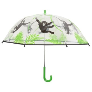KG umbrella transparent monkey. POE, metal, PP. 72,0x72,0x63,3cm. oq/12,mc/60 Pg.99