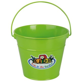 Green Bucket. Zinc. 20,5x19,0x15,5cm. oq/12,mc/48 Pg.100
