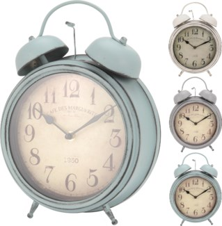 C37566800 Bell Clock Antique Finish 3 Asst. 9.2X12.2X3.3 Inches