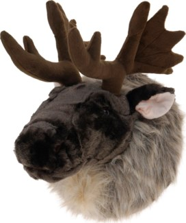 ABT315070. Moose Head Plush 14.6x10.2x11inch. (units/inner:4. units/outer4)*last Chance*