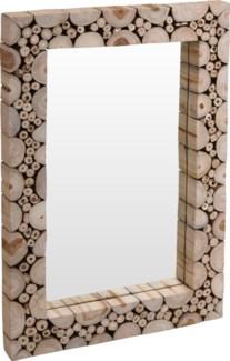 J11300880 - Mirror w/Teakwood Frame, Rectangular Size 29.5X19.5X2 in.