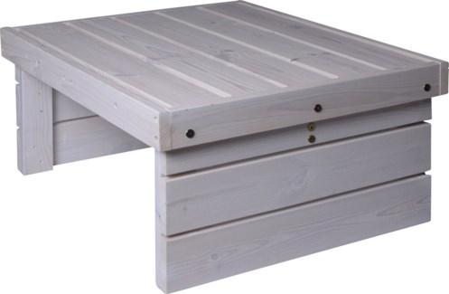 533000620 Patio Coffee Table Wht, Wood, 27.5x23 in.