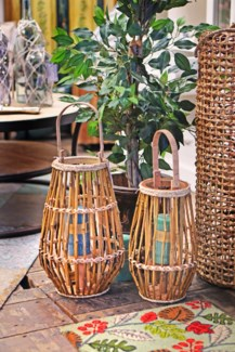 HZ1008130-Bamboo Lantern, S, 14 inches On sale 25% off
