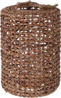 452100040 Water Hyacinth Lantern Short, w/glass cylinder, 11x15 in.
