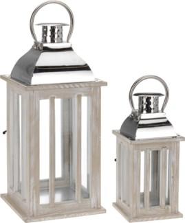 NB1110010 Wood Lantern S/2, *LAST CHANCE*