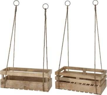 A44710990 - Hanging Crate, Mango wood, Set/2