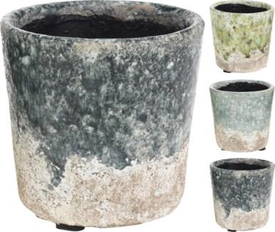 095600770 - Ceramic Flower pot, 3 Asst