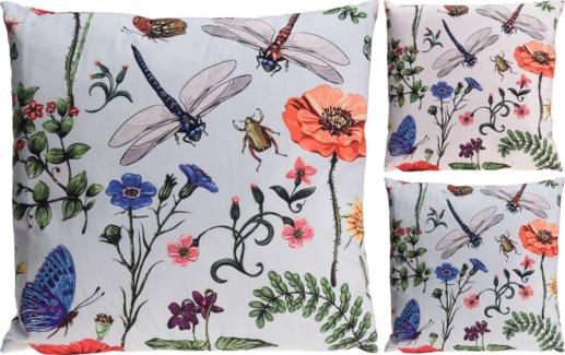 HZ1908850-Botanica Sq. Cushion 2/Asst, Polyester, 18 in