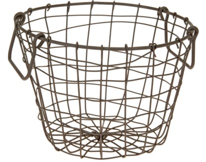 437905000. Round Grey Basket Metal 10.2x10.2x8.3inch. (units/inner:20. units/outer20) *Last Chance!