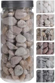 HZ1930090-Decoration Stones 6/Asst, Natural 2.6x2.6x6.1 in 750 Gr