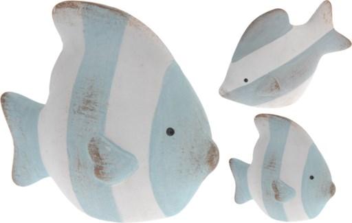 ALX115040 Vertical Striped Fish, Blue, Assorted Designs, 3.7x1.6x2.5