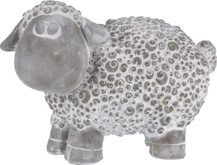 252730900 - Cement Sheep, 15x7.8x10 inches