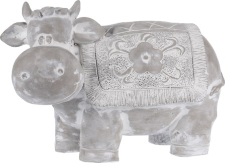 252730910 - Cement Cow, 15x7.8x10 inches - ON SALE 35 percent off original price 29.99