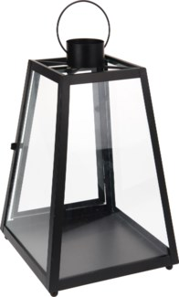 CC5053020 -  Lantern Metal, Black, 9.5x15inches - ON SALE 30 percent off original price 24.99 *La