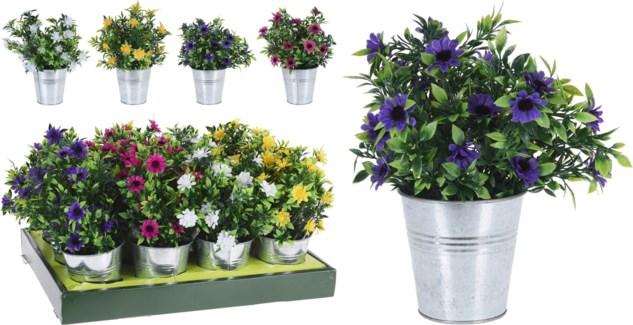 317002720 Artificial Plant Zinc Pot 4x4