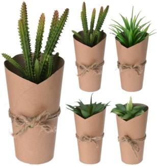 317002840 Artificial Plant Paper Pot, 6x6x8  On sale 35% off
