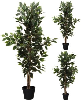 317002630 - Potted Artificial Indoor Tree, 45 in high. 2 Asst
