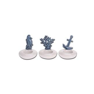 ALX116040-Oceana Tealight Holders, 3/Asst Porcelain, 3.5x3.5x4.25 in