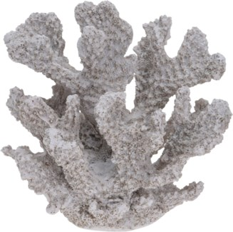 252120340-Coral Decor S, Polystone, 4.5x3.7x4 in
