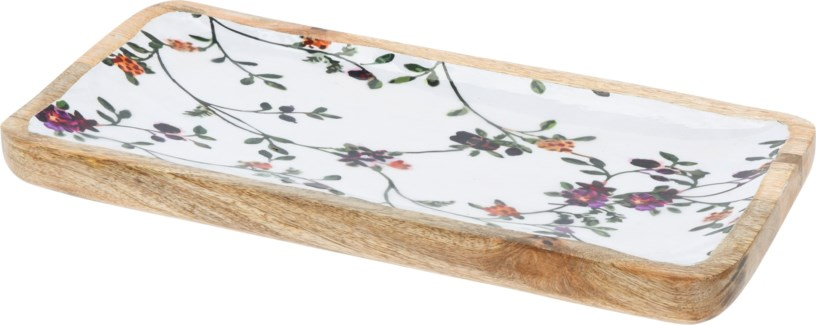 A44320340 Flower Print Tray Large, 11.9x5.9x1.2 in.