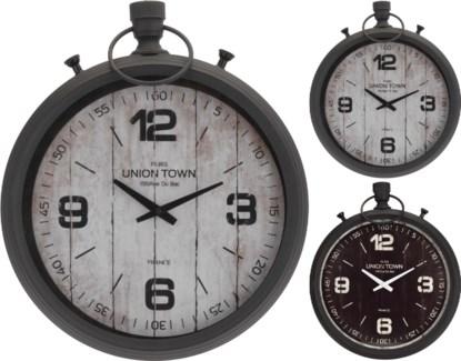 HZ1800650 Metal Wall Clock 2 Assorted Design, 15.8x2.7x18.5