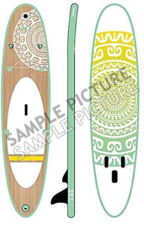 704130080 Inflatable Maori Paddle Board, 120x28x3.9 in.