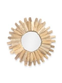 J11301100 Round Driftwood Mirror, L 23x1.6 in.