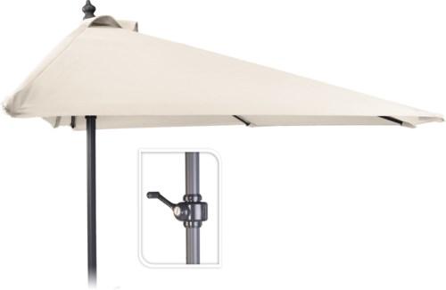 X61211130 Half Round Balcony Umbrella, Cream, 98.4 in.