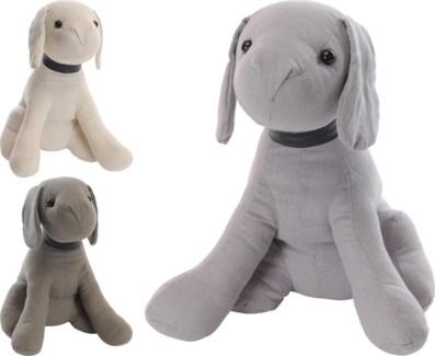 AAE301800. Doorstopper Dog 3Asstd. 95 Percent Polyester. 5 Percent Linen 19x20x28cm. (units/inner:12