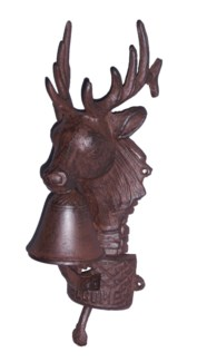 Reindeer Doorbell, Cast Iron, 12.6x3.7x4.7 inches On Sale 35% off  **Last Chance!*