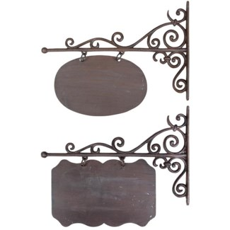 Sign board ass. L. Cast iron. 45,2x3,0x36,3cm/45,2x3,0x39,2cm. oq/4,mc/8 Pg.45