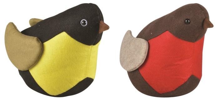 Doorstop bird ass. - (10.5x5.5x7.6 inches)