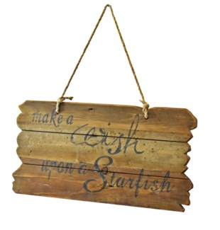 WISH Driftwood Sign - Coming Spring 2019 23x1.25x22 inches
