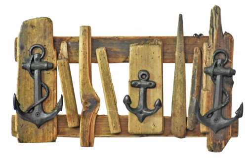 Anchor Driftwood Hookboard - Coming Spring 2019 17.3x2.7x11.4 inches