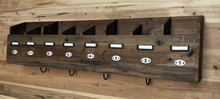 Rustic 8 Compartment Wall Shelf 36x4.7x10.6 inches