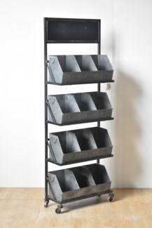 Rustic Metal 12 Cubby Displayer *50% off with $750 order of Hardware 23.4x9.4x66.14 inches